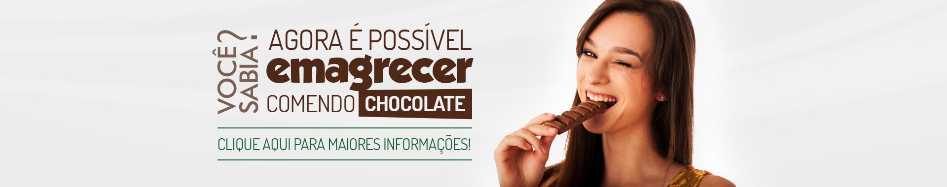 Emagrecer comendo chocolate